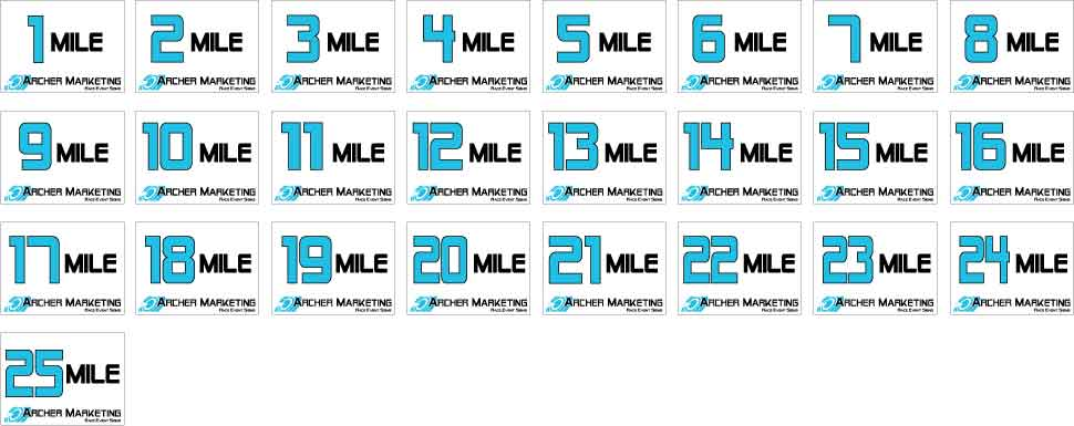 Running Event Signs 5k Races Fun Runs Marathons