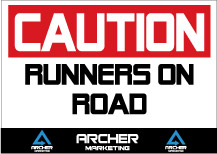 Caution-runners-on-road-sign