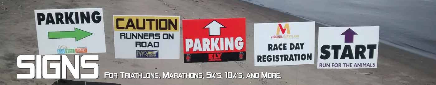 Race signs by Archer Marketing